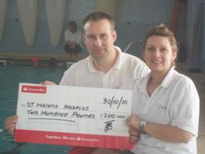 swimming fundraising st helena hospice