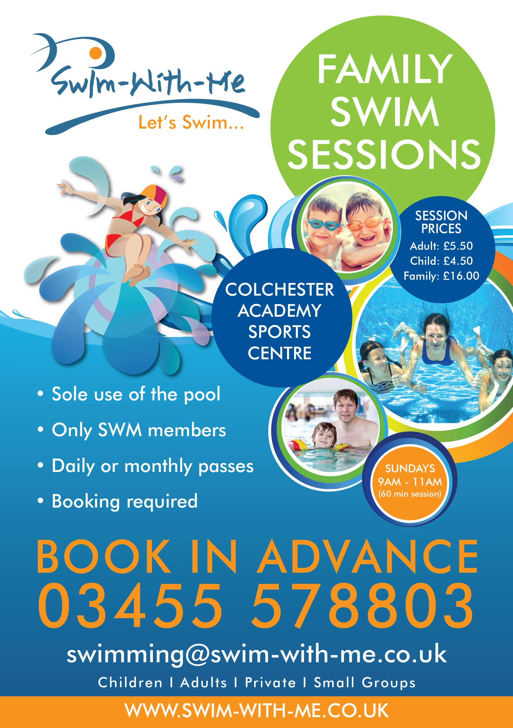 Family Swim Sessions @ Colchester Academy